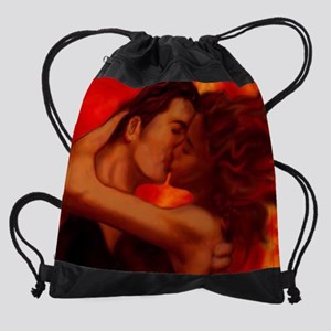 thekiss02-16x20a Drawstring Bag