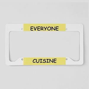 french cuisine License Plate Holder
