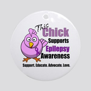 This Chick Supports Epilepsy Awareness Ornament (R