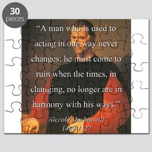 A Man Who Is Used To Acting - Machiavelli Puzzle