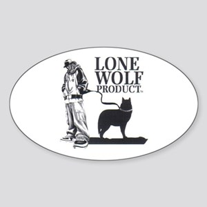 Lone Wolf PRODUCT Oval Sticker