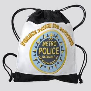 Police Patch for Rotator With Text Drawstring Bag