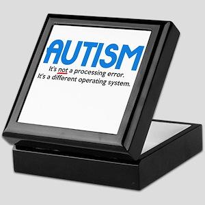 Autism Not a Processing Error Keepsake Box