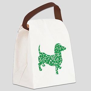 St. Patricks Day Dachshund Doxie Canvas Lunch Bag