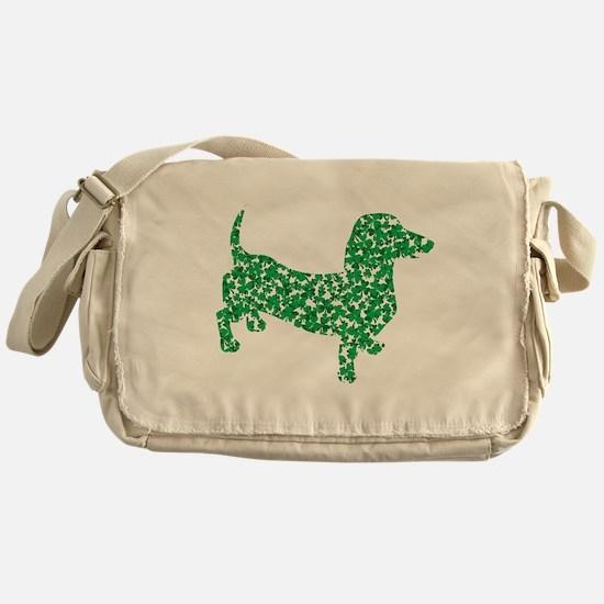 St. Patricks Day Dachshund Doxie Messenger Bag