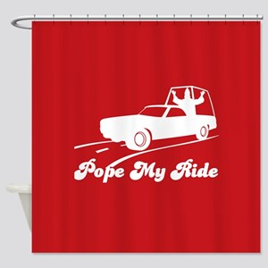 Pope My Ride Shower Curtain