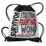 Melanoma awareness Drawstring Bag