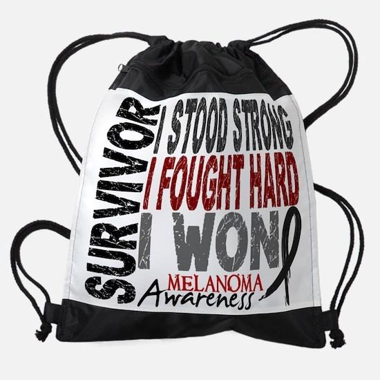 D Survivor 4 Melanoma.png Drawstring Bag