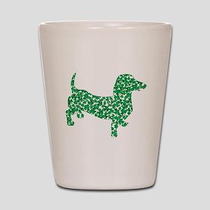 St. Patricks Day Dachshund Doxie Shot Glass