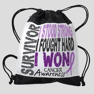 D Survivor 4 Cancer Drawstring Bag
