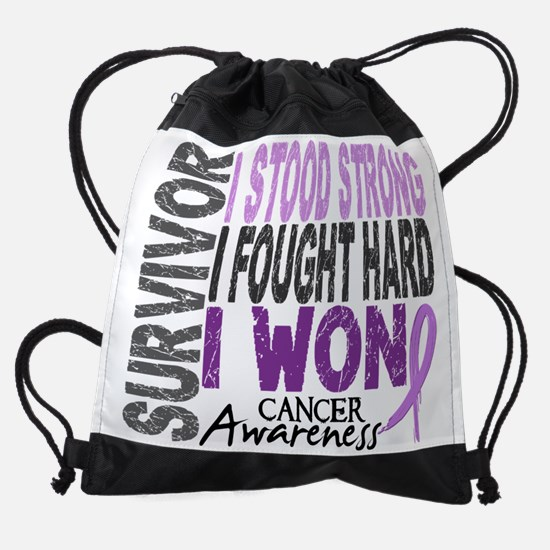 D Survivor 4 Cancer.png Drawstring Bag