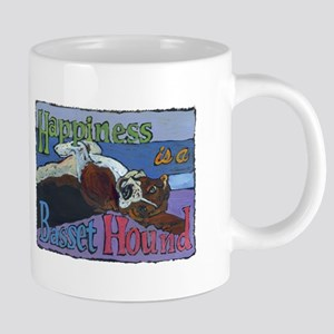 Happiness is a Basset Hound Mugs