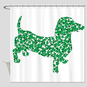 St. Patricks Day Dachshund Doxie Shower Curtain