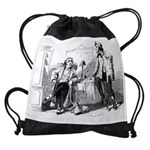 the old daysCALENDAR copy Drawstring Bag