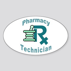 pharmacy technician Oval Sticker