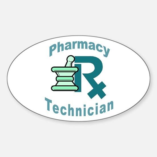 pharmacy technician Oval Decal