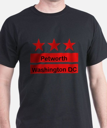 Petworth Black T-Shirt (Inspired by the DC Flag)