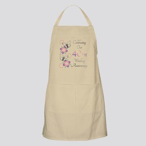 Elegant 40th Anniversary Light Apron