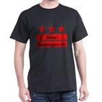 Shaw Black T-Shirt (Inspired by the DC Flag)