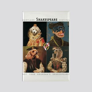 MD Shakespeare Dogs Rectangle Magnet