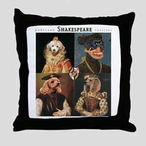 MD Shakespeare Dogs Throw Pillow