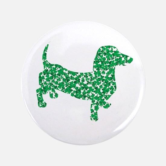 """St. Patricks Day Dachshund Doxie 3.5"""" Button"""