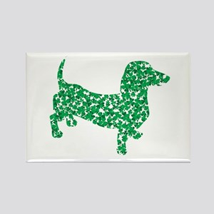 St. Patricks Day Dachshund Doxie Rectangle Magnet