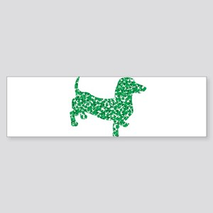 St. Patricks Day Dachshund Doxie Bumper Sticker