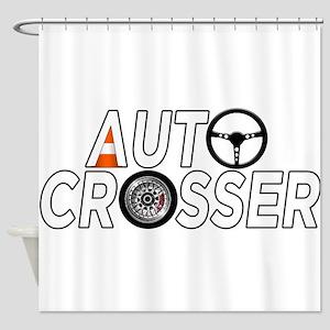 Auto Crosser Shower Curtain