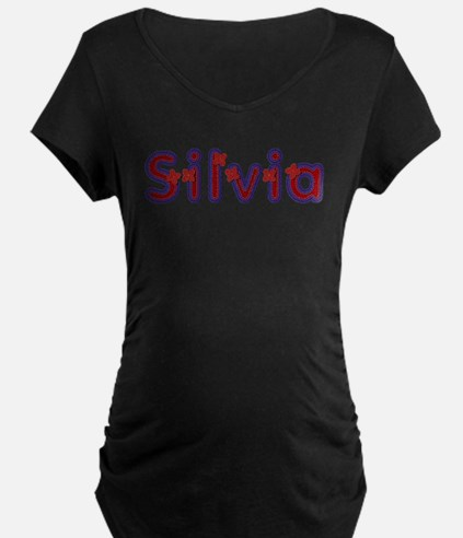 Silvia Red Caps Maternity T-Shirt