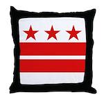 3 Stars 2 Bars Throw Pillow
