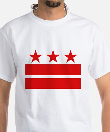 3 Stars 2 Bars White T-Shirt