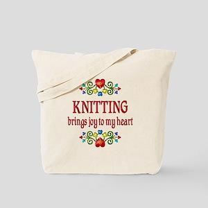 Knitting Joy Tote Bag