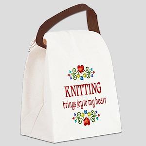 Knitting Joy Canvas Lunch Bag