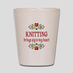 Knitting Joy Shot Glass