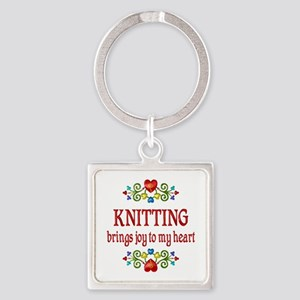 Knitting Joy Square Keychain