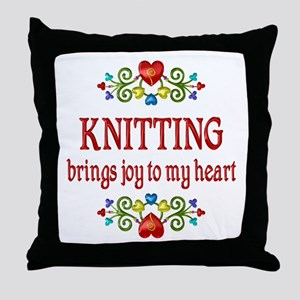 Knitting Joy Throw Pillow
