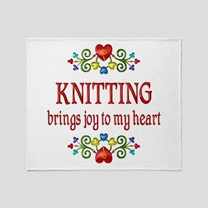Knitting Joy Throw Blanket