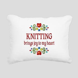 Knitting Joy Rectangular Canvas Pillow