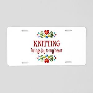 Knitting Joy Aluminum License Plate