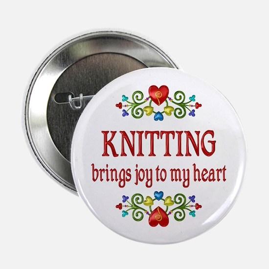 "Knitting Joy 2.25"" Button (10 pack)"