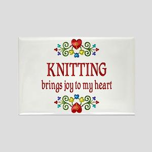 Knitting Joy Rectangle Magnet