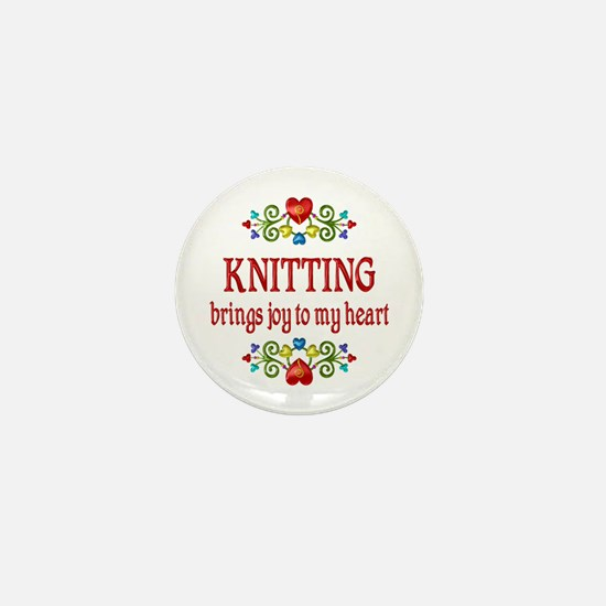 Knitting Joy Mini Button