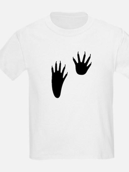 Raccoon Tracks Kids T-Shirt