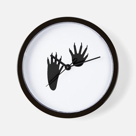 Raccoon Tracks Wall Clock