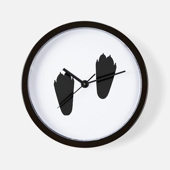 Rabbit Tracks Wall Clock