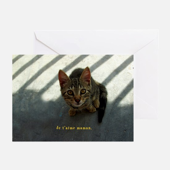 Je t'aime maman Greeting Cards (Pk of 10)