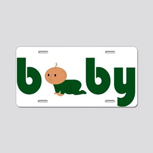 Green Cute Baby Aluminum License Plate