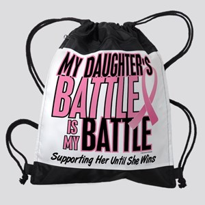 - My Battle Too Daughter Breast Can Drawstring Bag