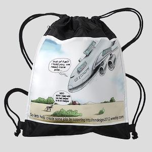 plane Drawstring Bag